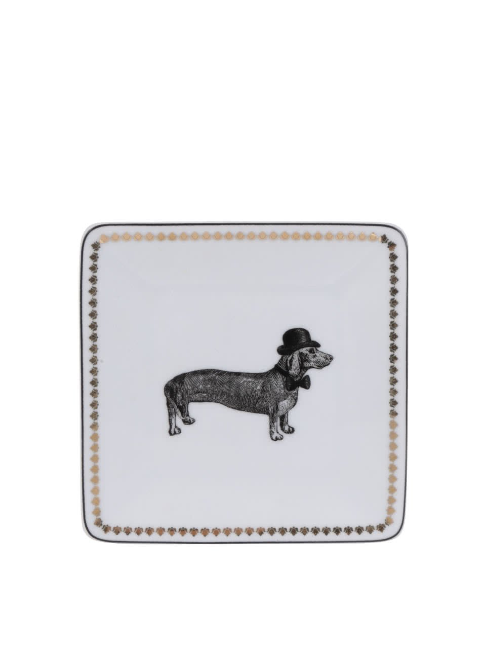 Černo-bílý porcelánový talířek na šperky Galison