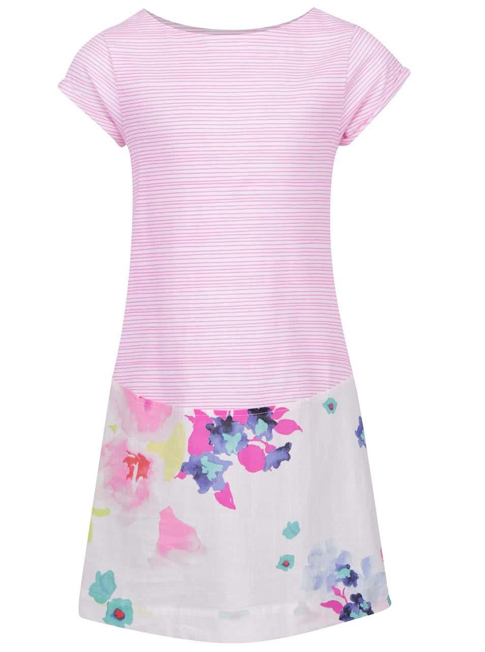 Růžové vzorované holčičí šaty Tom Joule