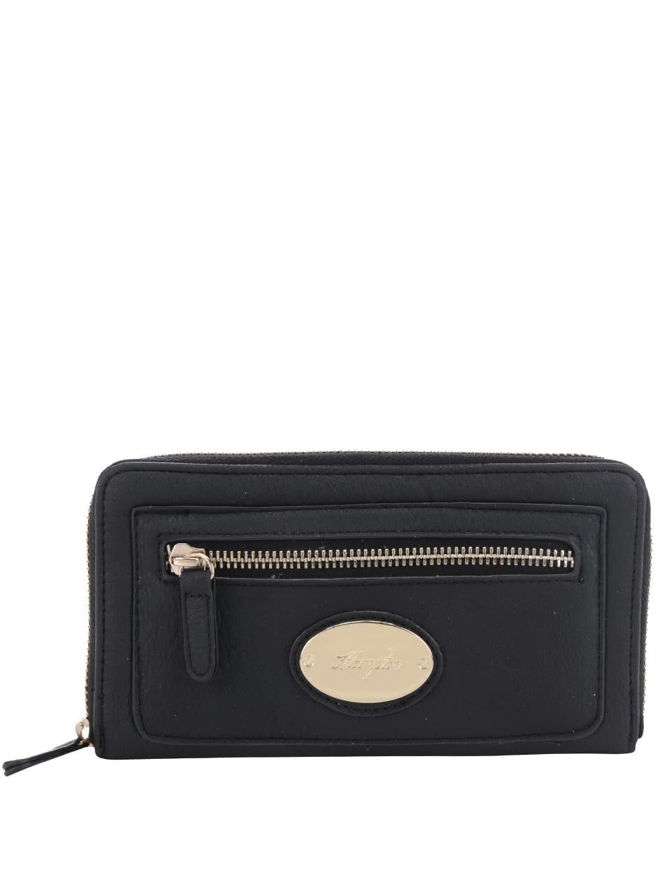 Černá peněženka s detaily ve zlaté barvě Hampton Rochelle