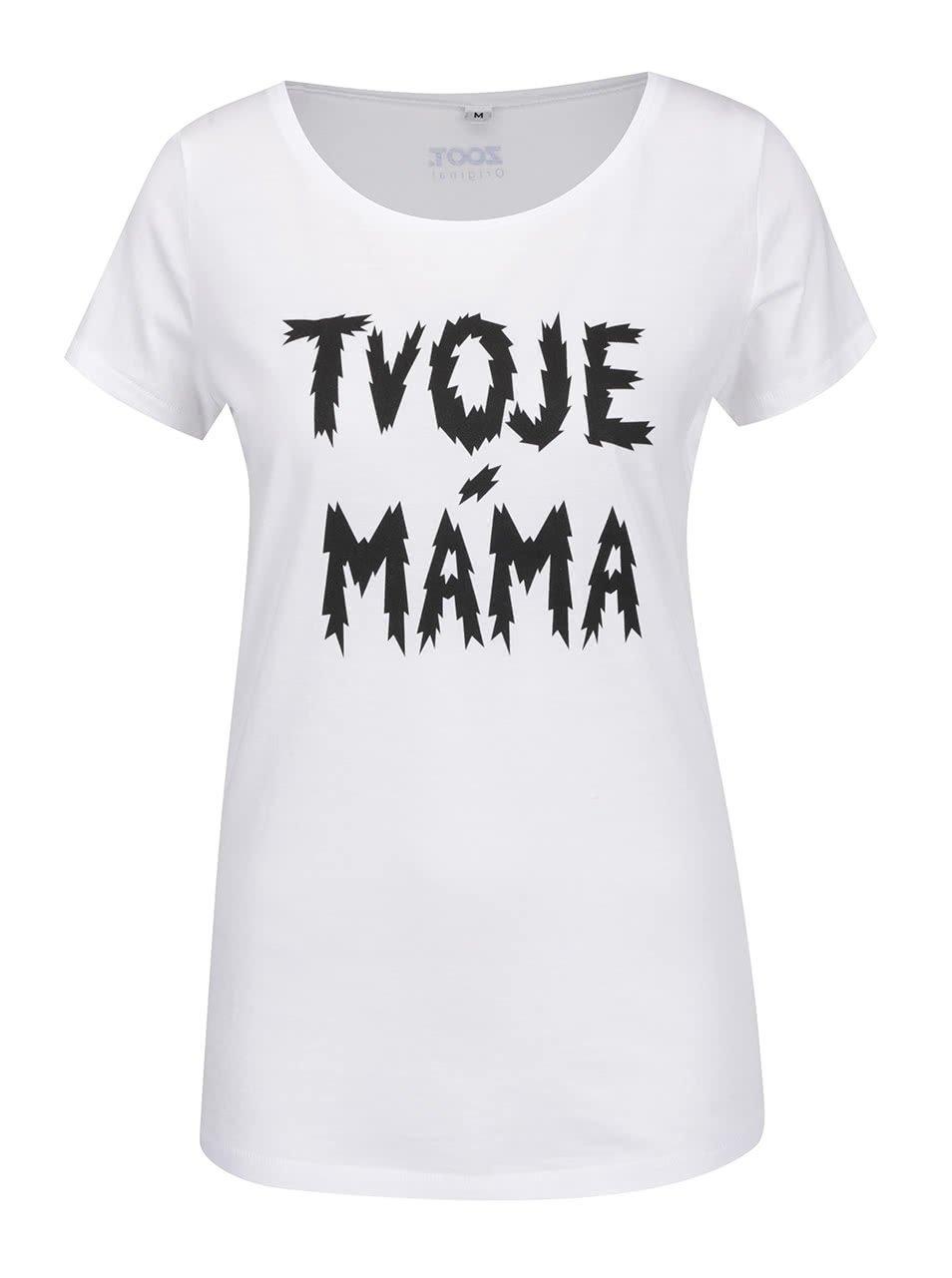 Bílé dámské tričko ZOOT Originál Tvoje máma