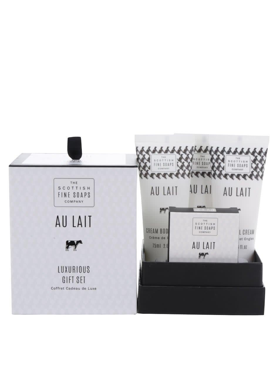 Dárkový set dámské kosmetiky Au Lait The Scottish Fine Soaps
