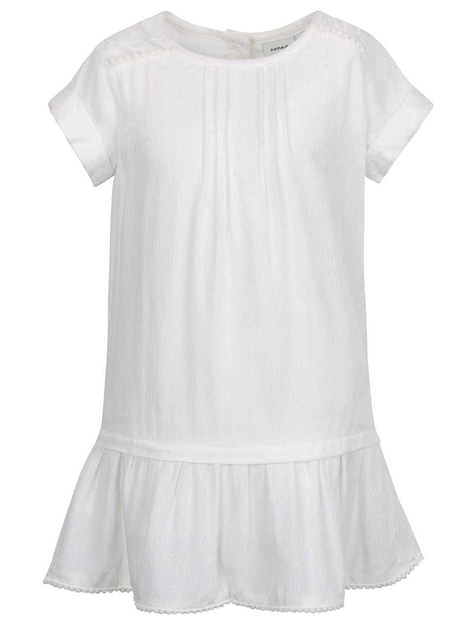 Krémové holčičí šaty name it Kimmie