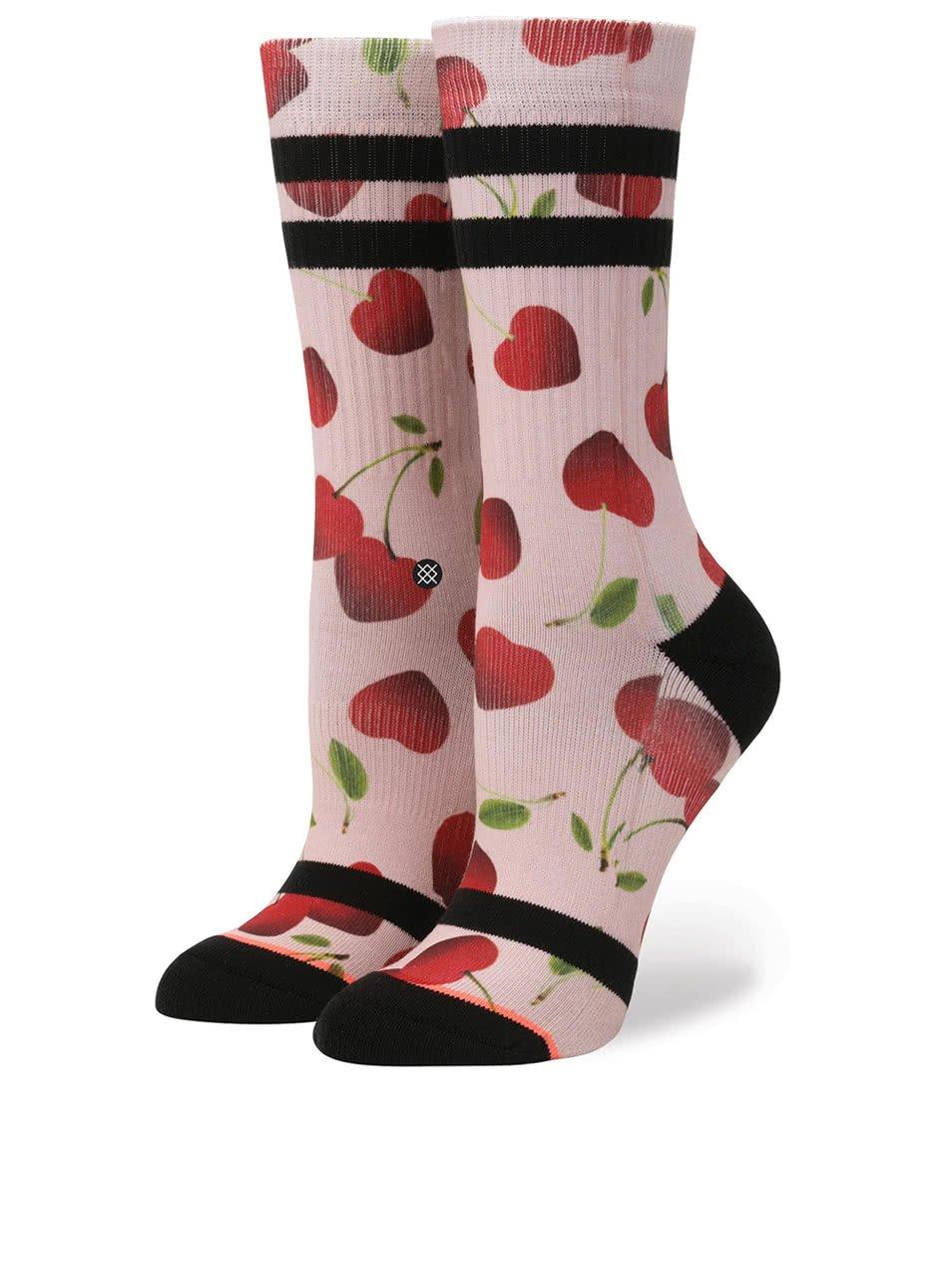 Růžové dámské ponožky Stance Cherry Bomb