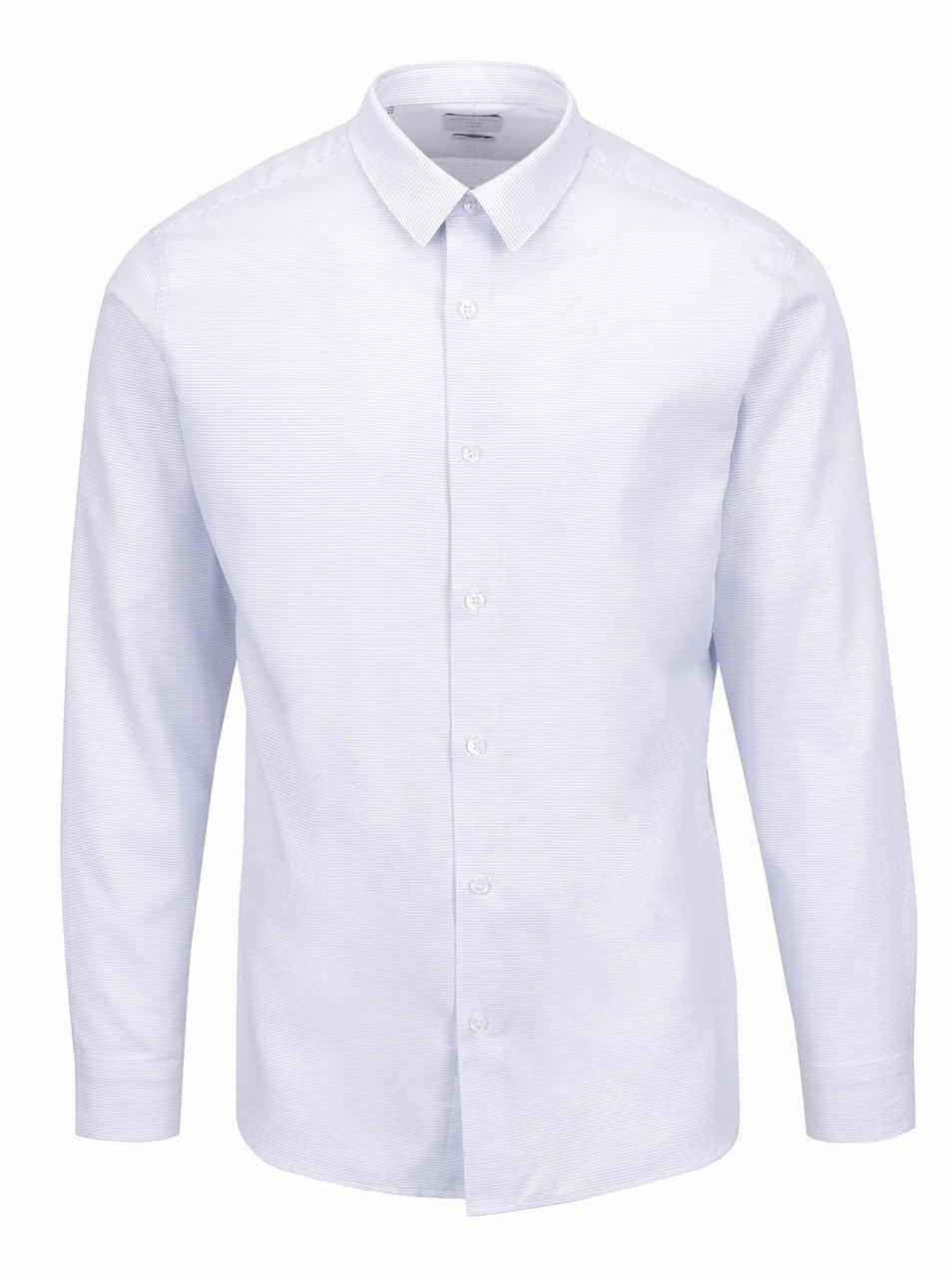 Světle modrá slim fit košile s jemným vzorem Selected Homme Onesid ... 0a14f9e618