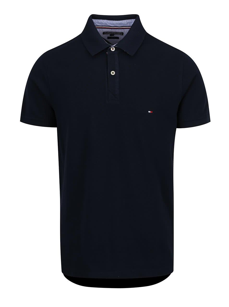 Tmavě modré pánské polo triko Tommy Hilfiger