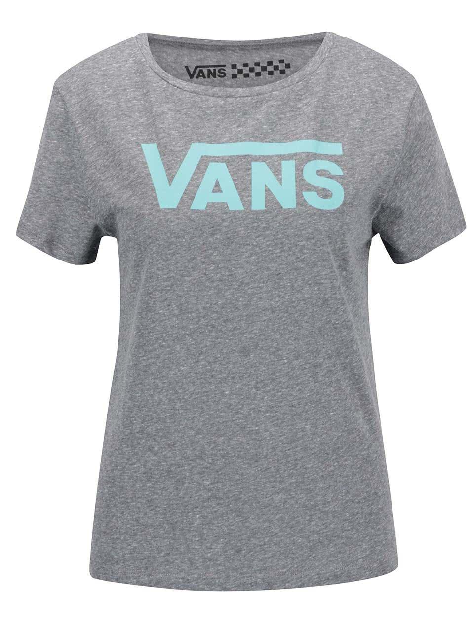 Šedé žíhané dámské tričko Vans Timeless