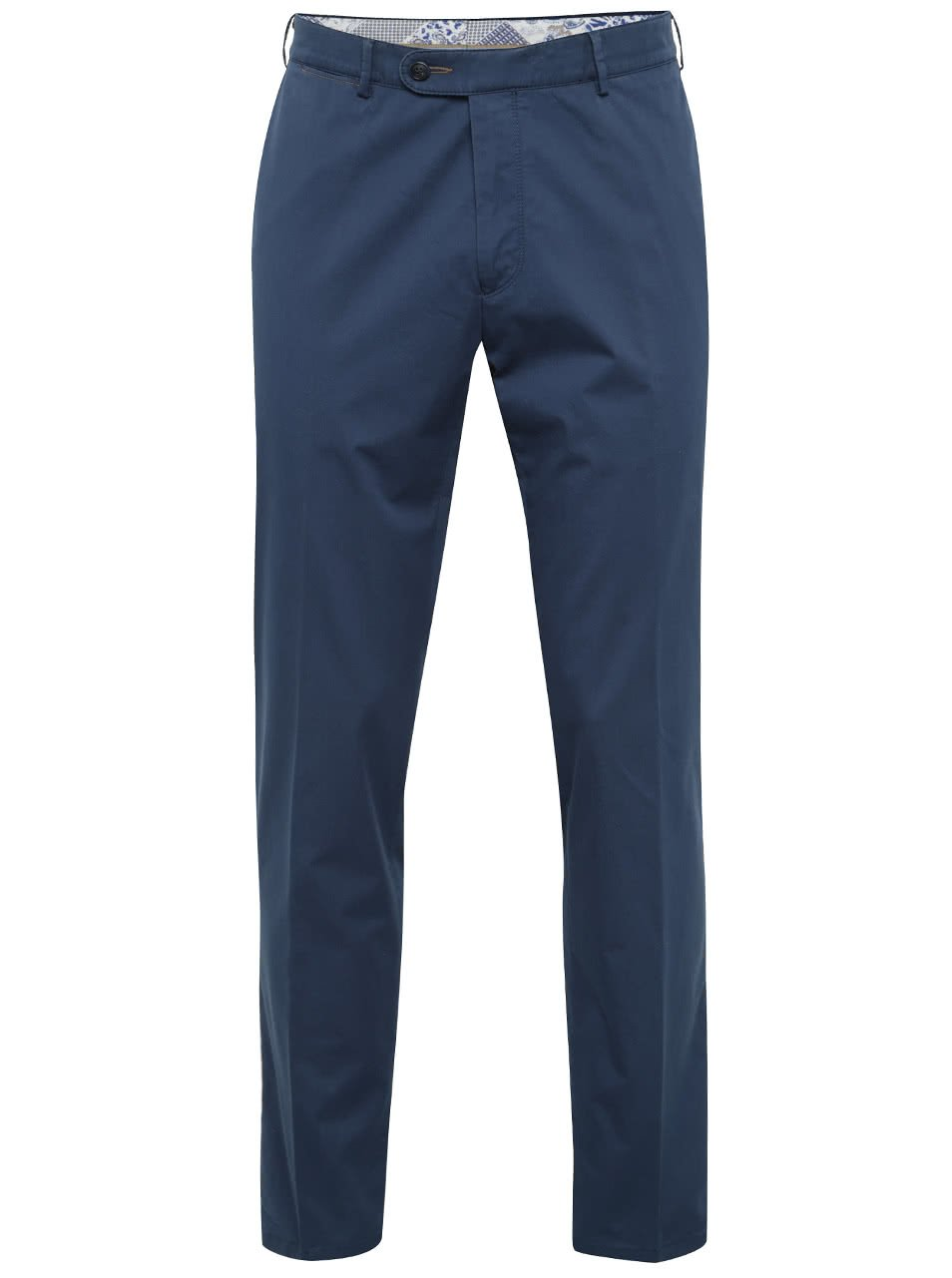 Tmavě modré pánské funkční chino kalhoty bugatti