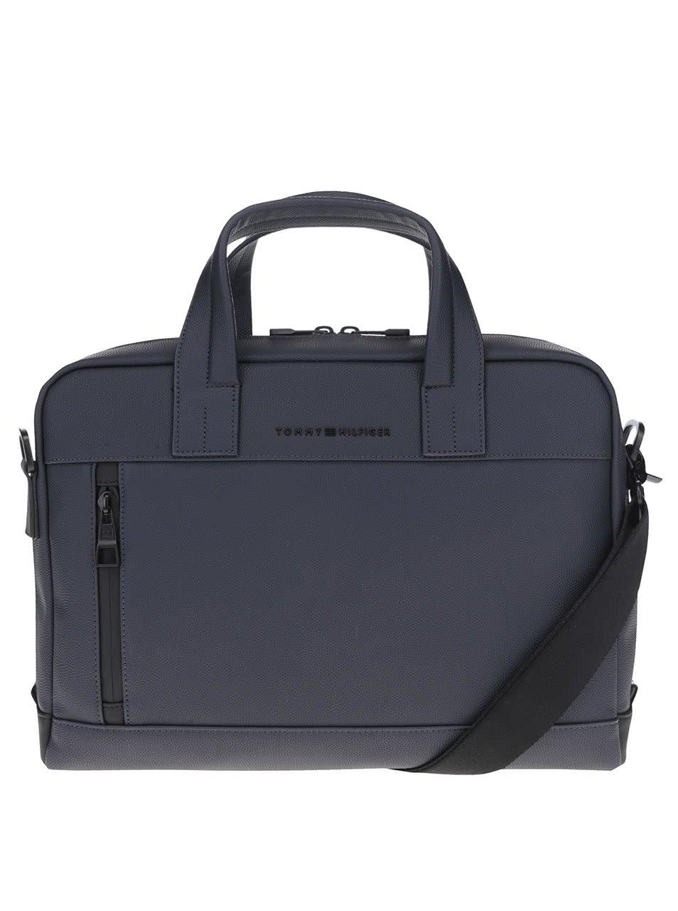 Tmavě modrá pánská taška na notebook Tommy Hilfiger