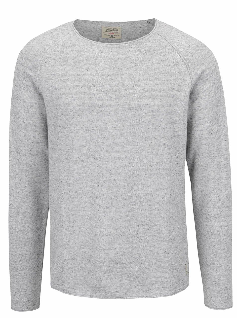 Světle šedé žíhané tričko Jack & Jones Union