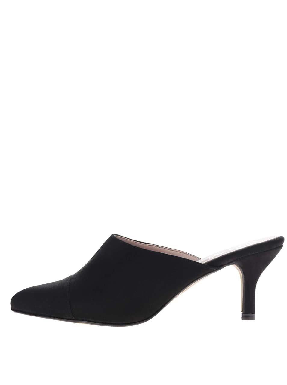 Černé nazouvací boty v semišové úpravě na podpadku OJJU