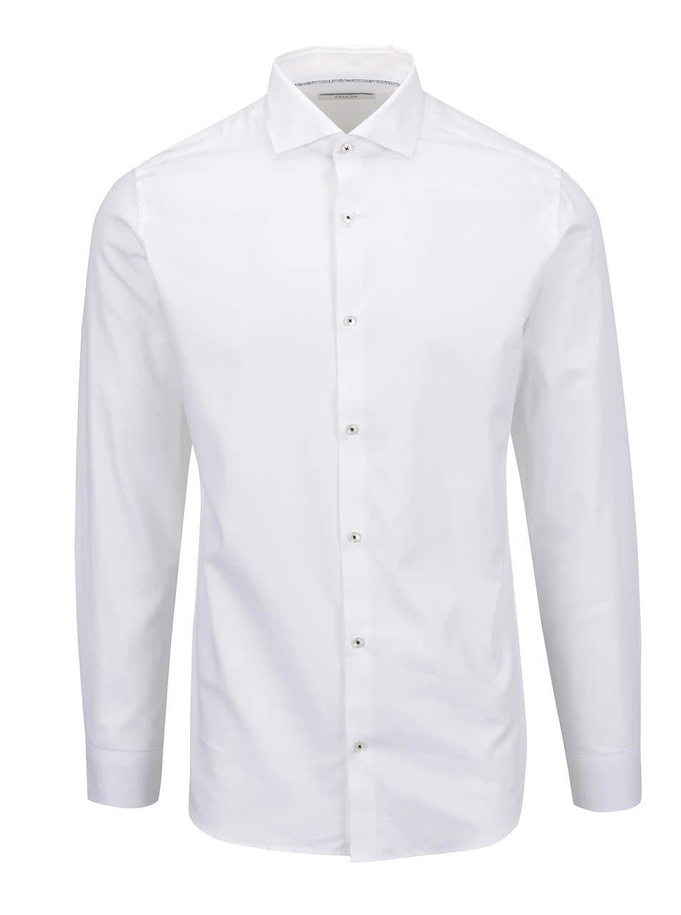 Bílá formální slim fit košile s dlouhým rukávem Jack & Jones Tim