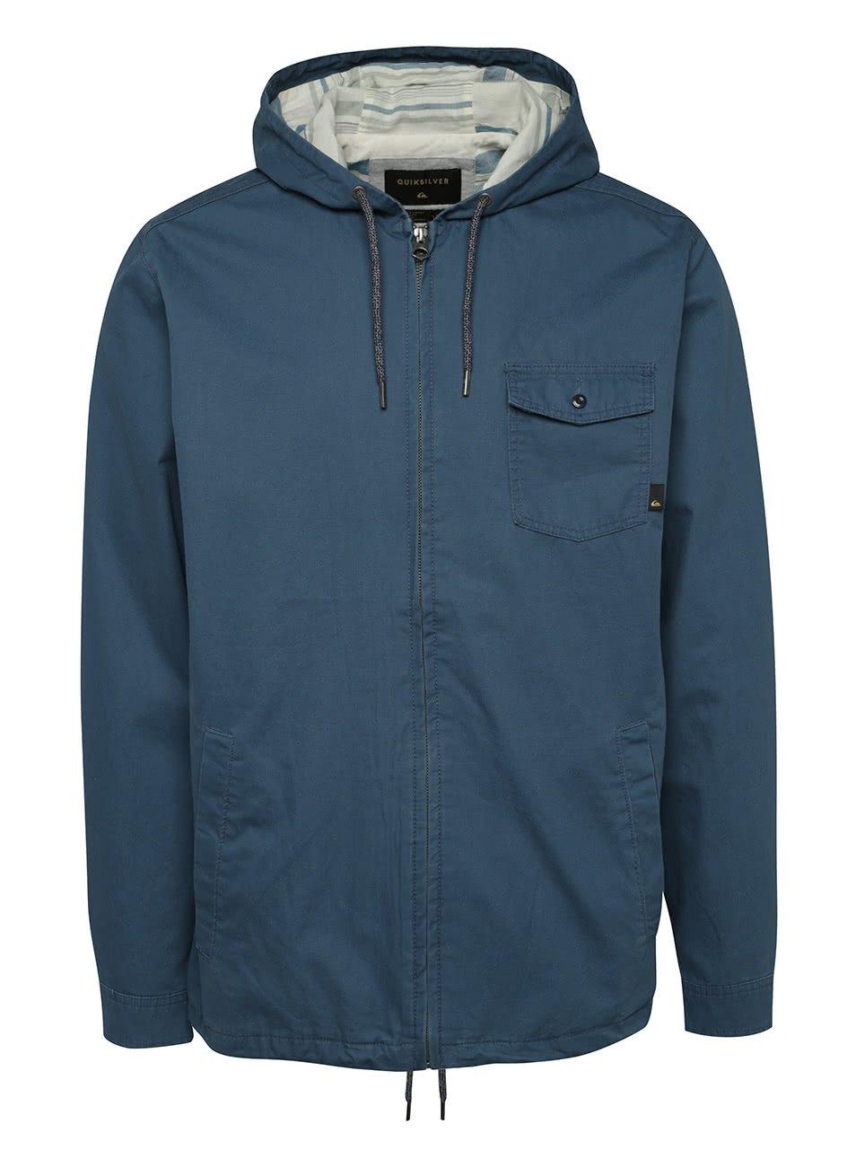 Modrá pánská bunda s kapucí Quiksilver Maxon