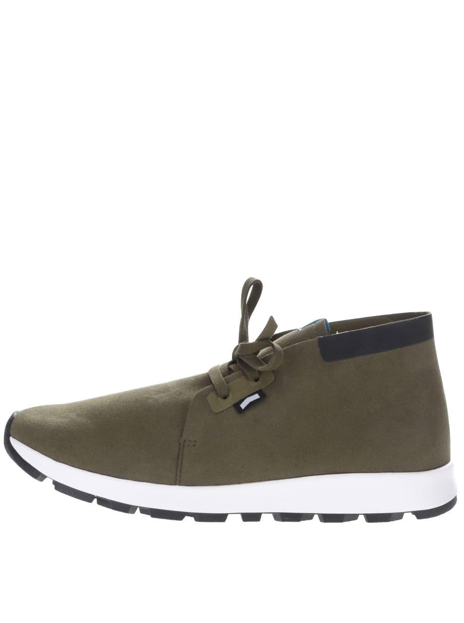 Khaki pánské kotníkové lehké boty Native