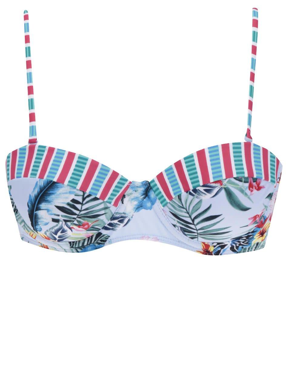 14d0c2ad676 Světle modrý horní díl plavek s tropickým potiskem Dorothy Perkins