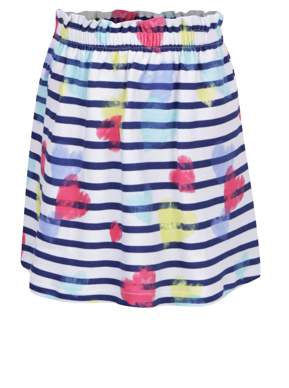 Modro-bílá holčičí pruhovaná sukně s potiskem 5.10.15.