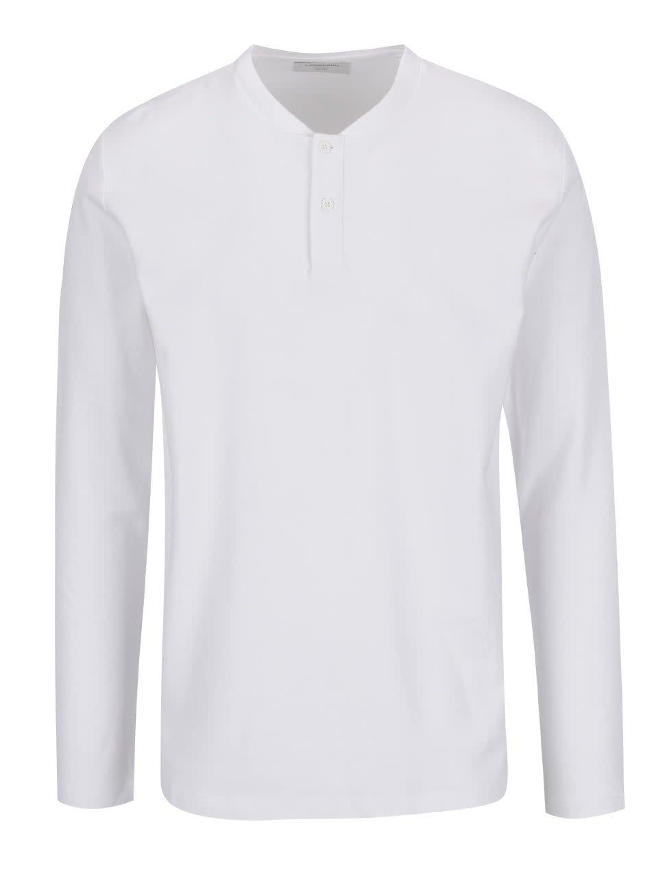 Bílé triko s dlouhým rukávem Lindbergh