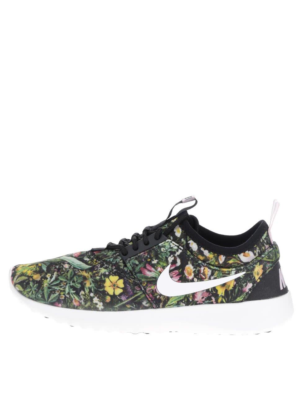 Zelené květované dámské tenisky Nike Juvenate