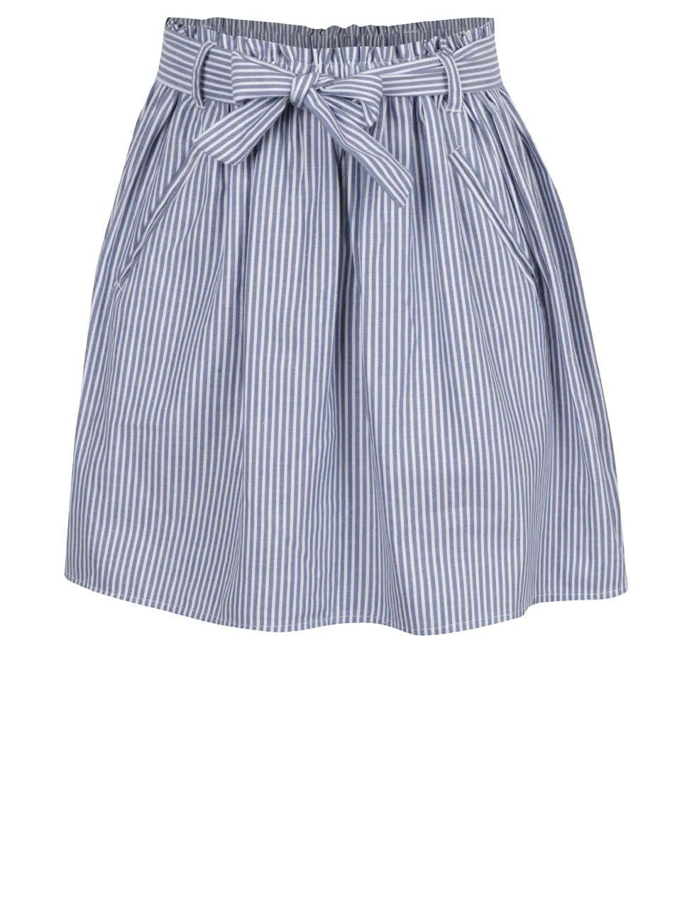 Modro-bílá holčičí pruhovaná sukně 5.10.15.