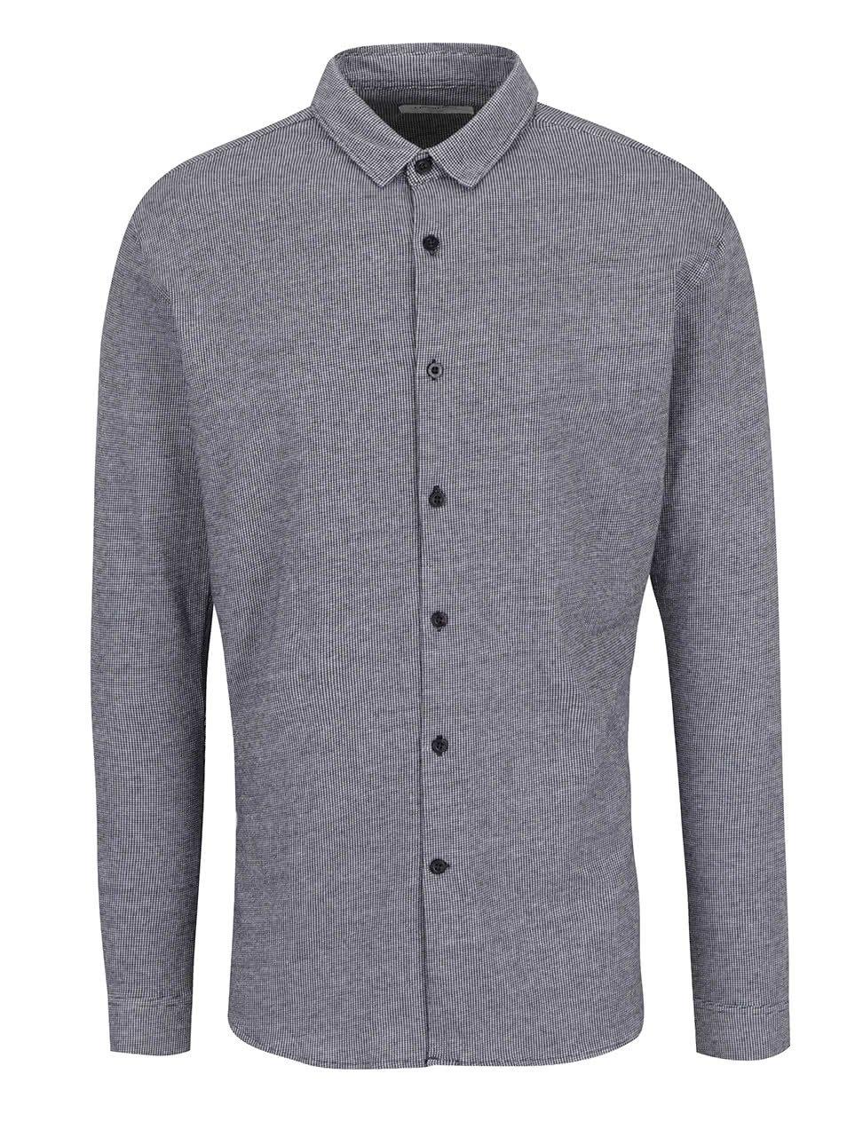 Tmavě šedá kostkovaná košile Lindbergh