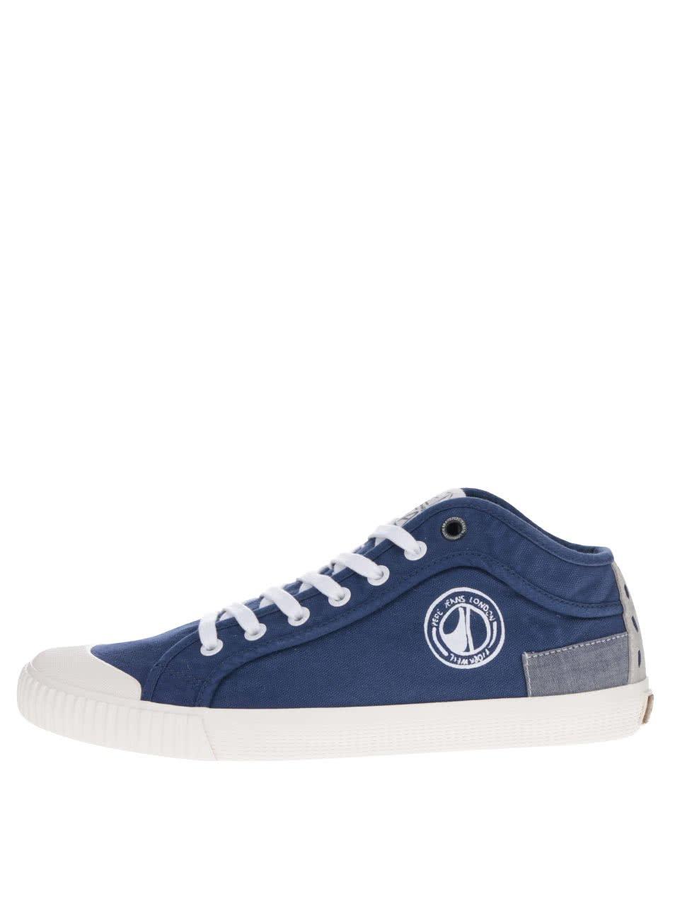 Modré pánské tenisky s logem Pepe Jeans Industry Tenugui