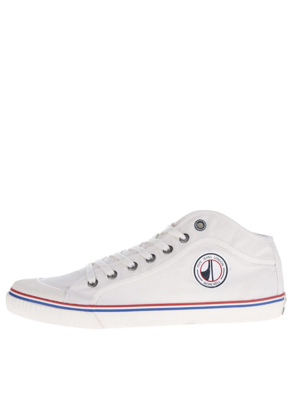 Bílé pánské tenisky s logem Pepe Jeans Industry Road
