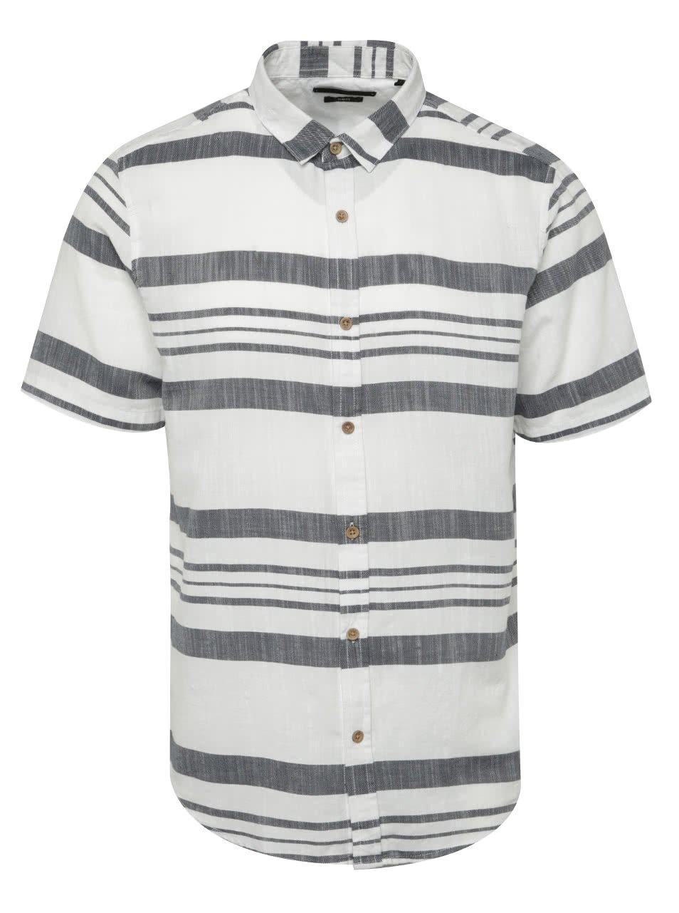 Šedo-bílá pruhovaná košile  ONLY & SONS Constantin