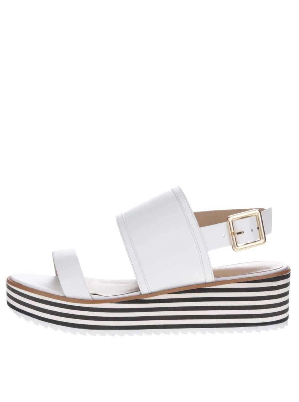 Bílé dámské sandály na platformě ALDO Jin