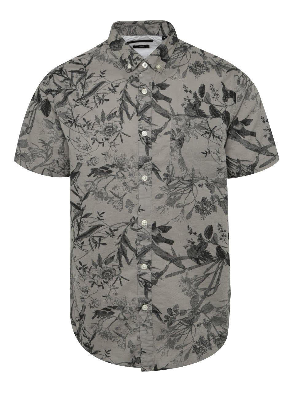 Šedá vzorovaná košile ONLY & SONS Cornelius
