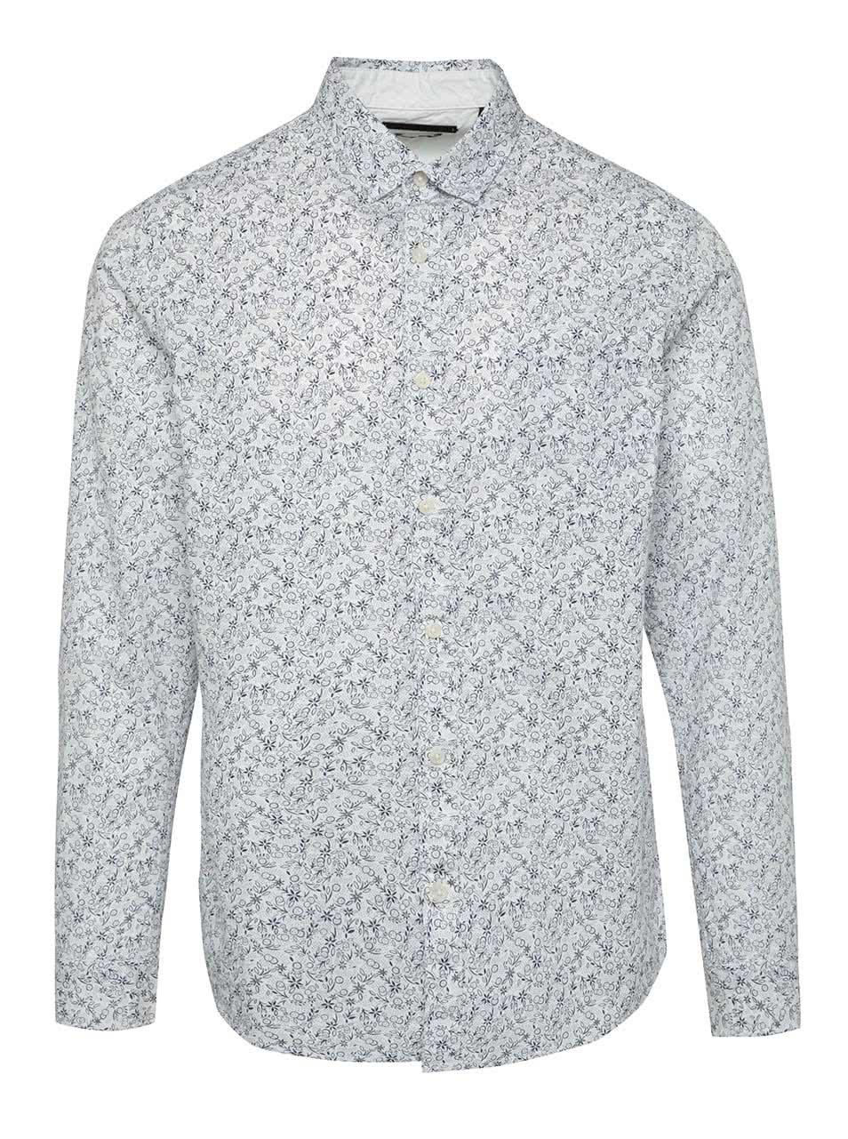 Modro-bílá vzorovaná košile ONLY & SONS Flower