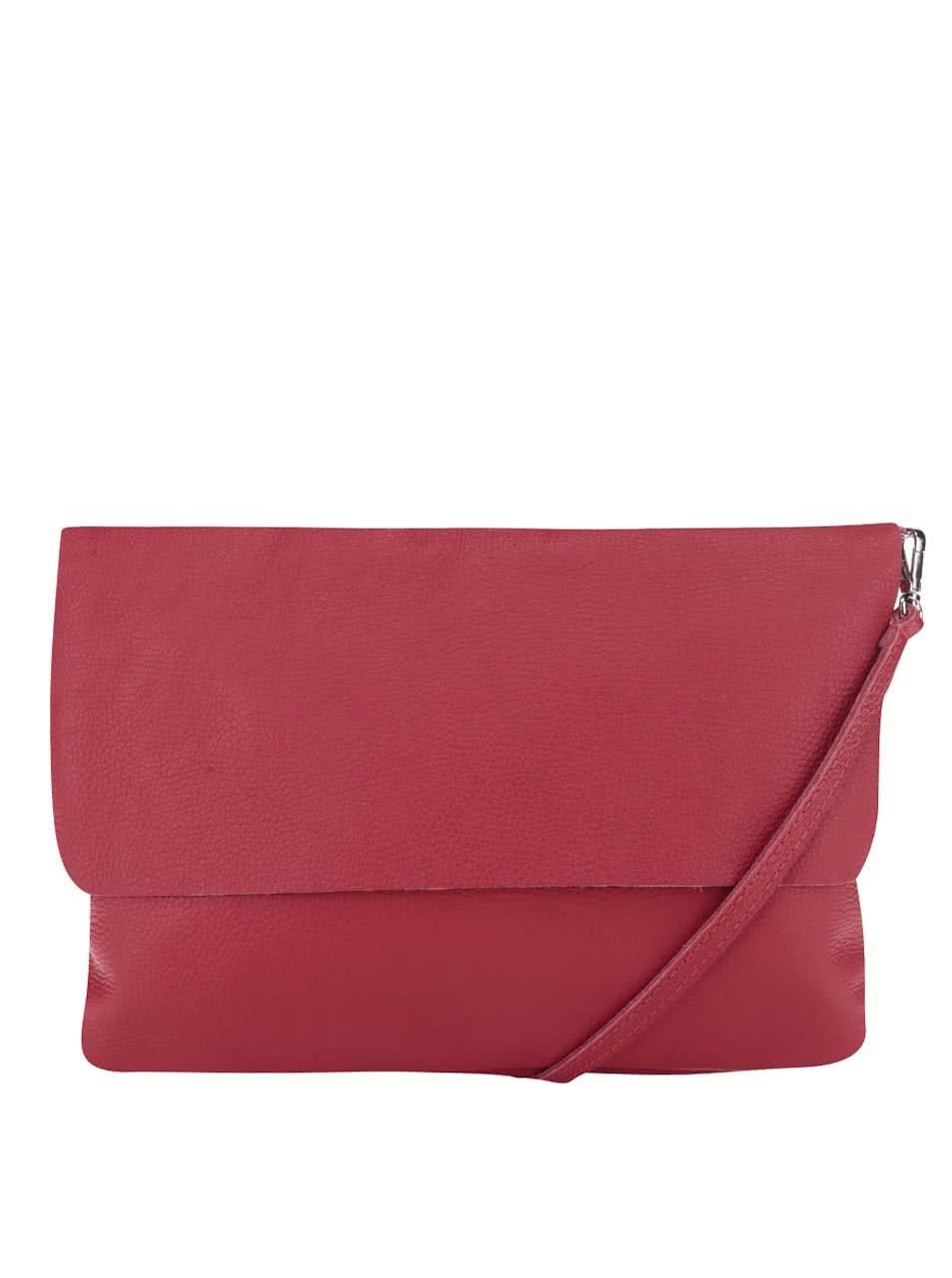 Červená kožená crossbody kabelka/psaníčko ZOOT