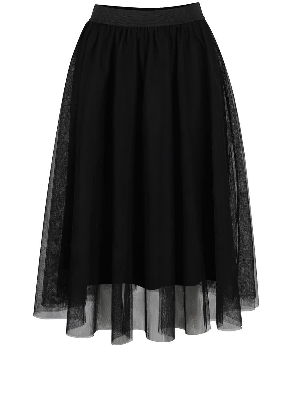 Černá tylová midi sukně ONLY Maja