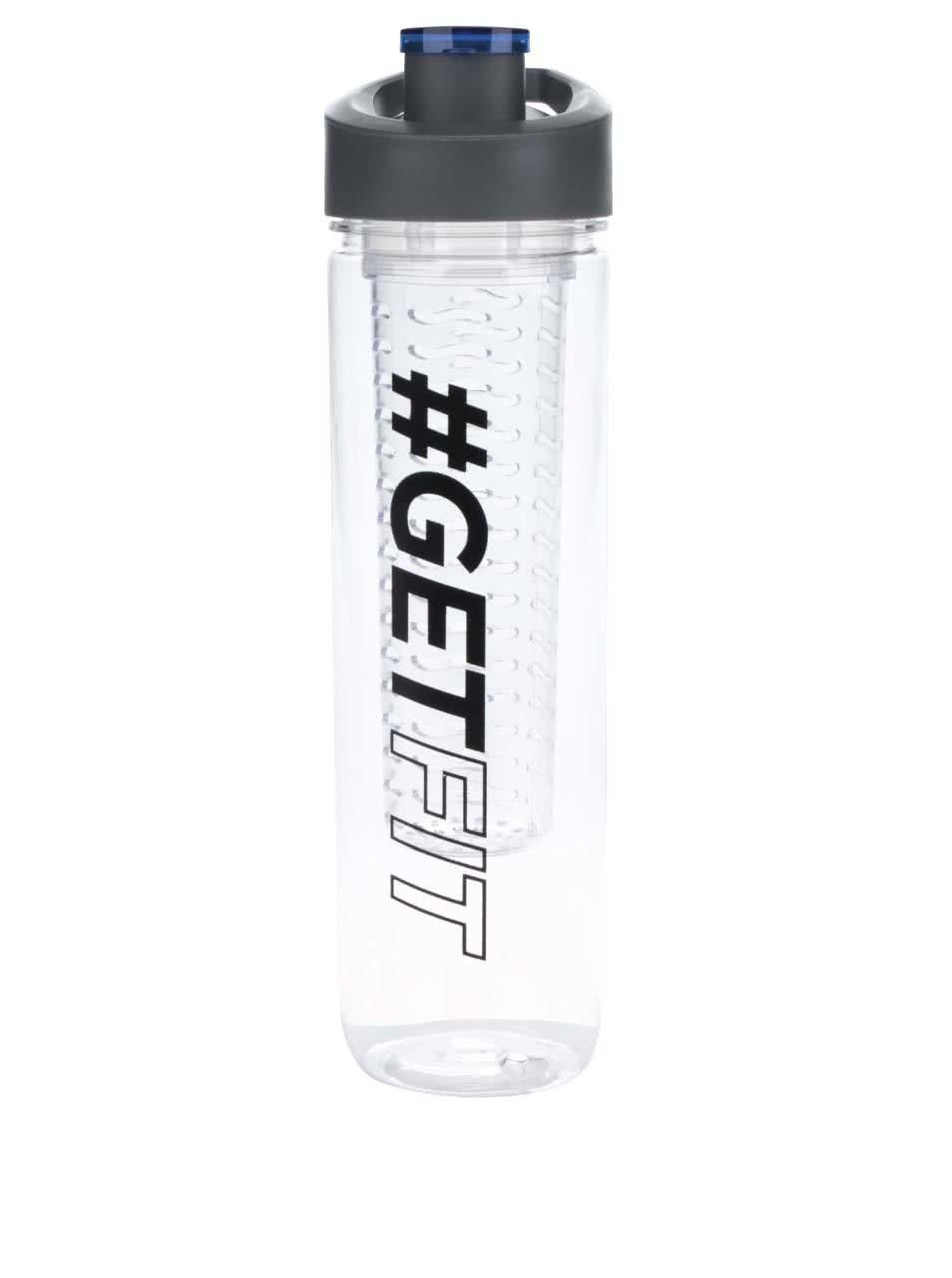 Filtrační láhev na vodu s potiskem Loooqs Get Fit