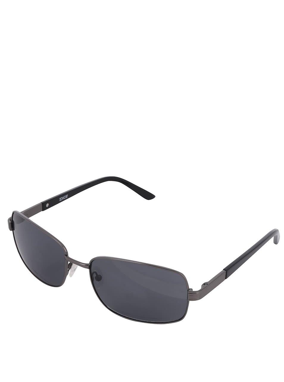 Pánské sluneční brýle s obroučkami v šedé barvě Dice
