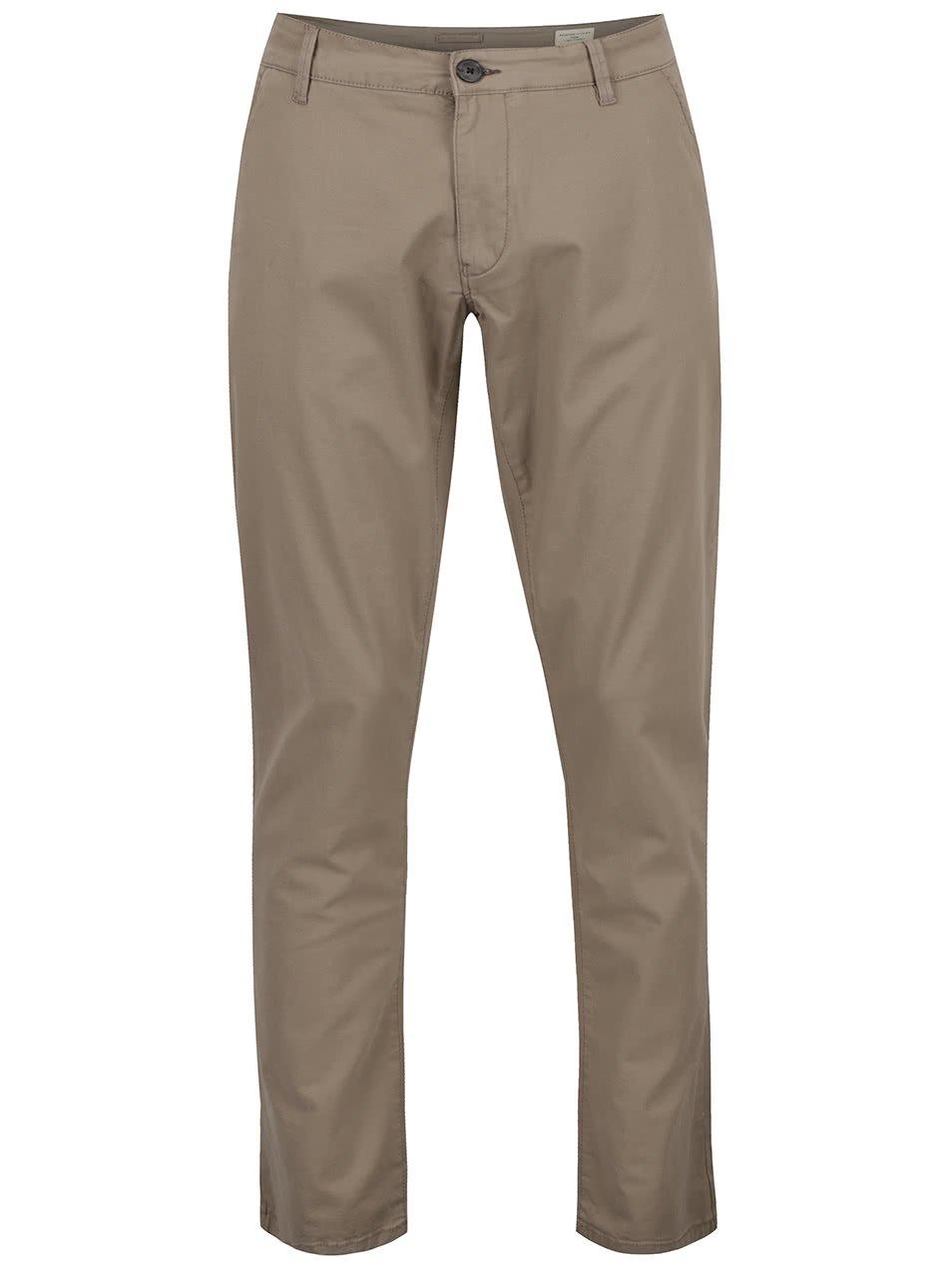 Béžové chino kalhoty Selected Homme Three Paris