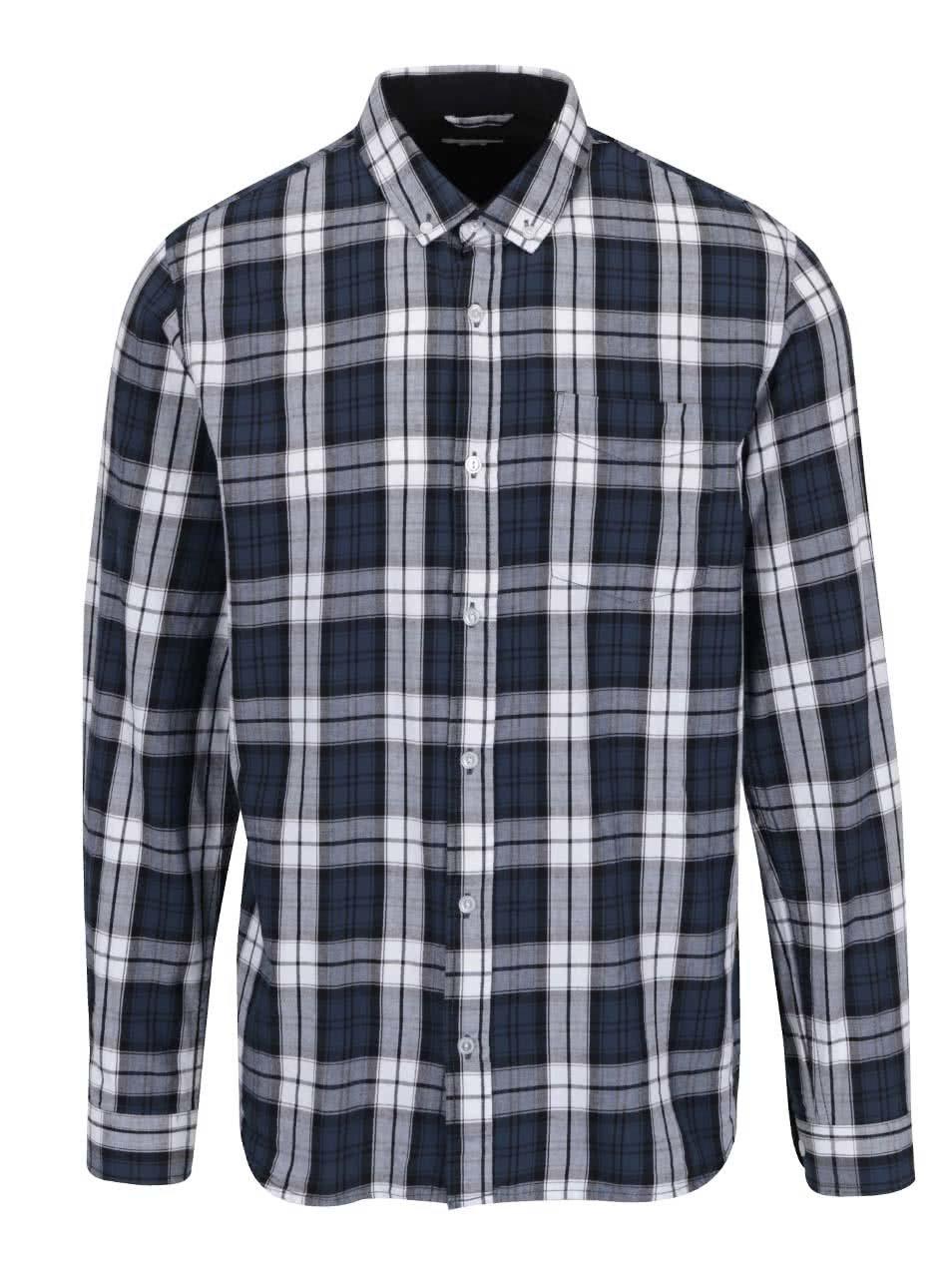 Tmavě modrá kostkovaná košile Shine Original Checked