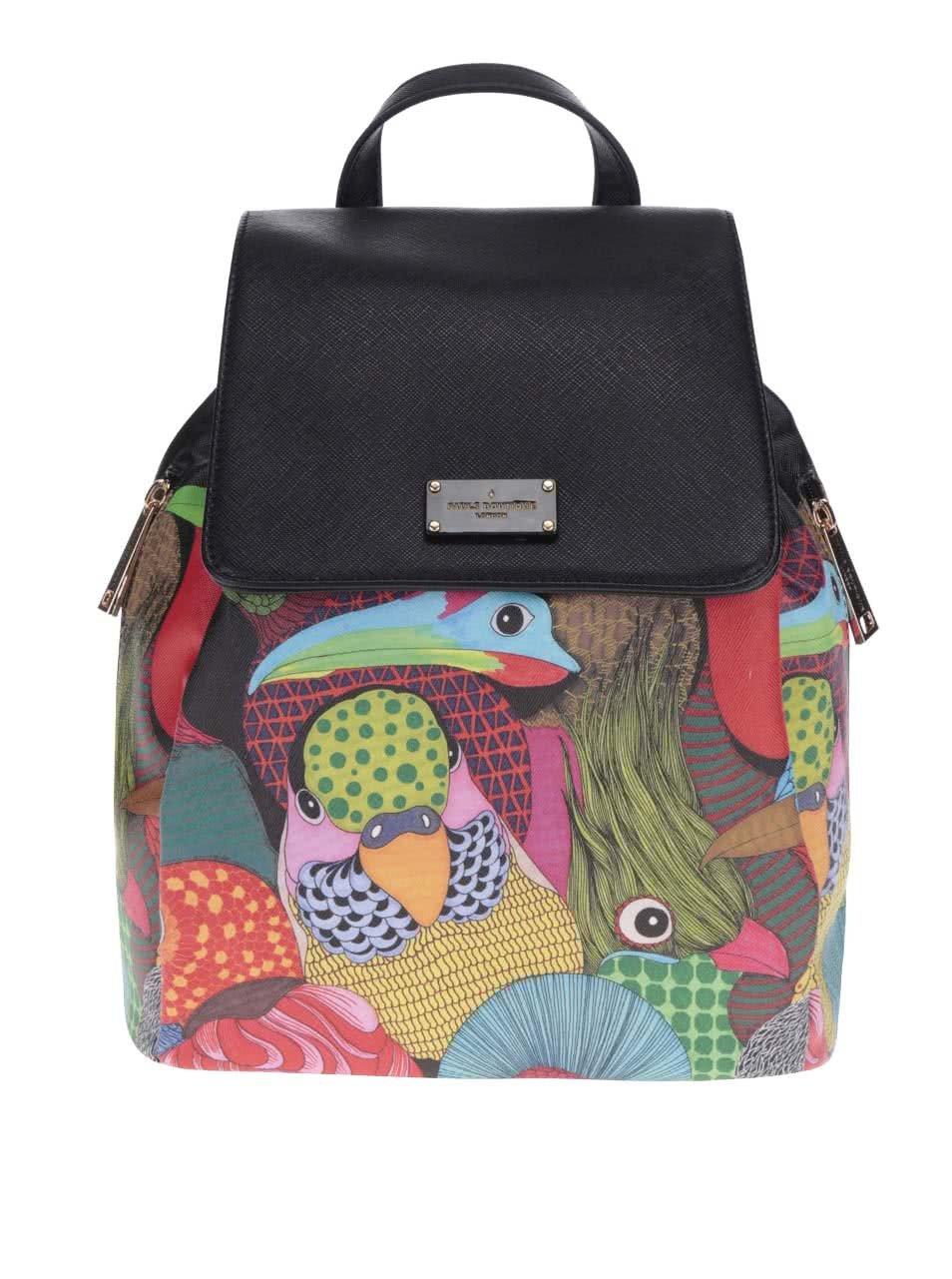 Čierny batoh s farebnou potlačou Paul's Boutique Gwyneth