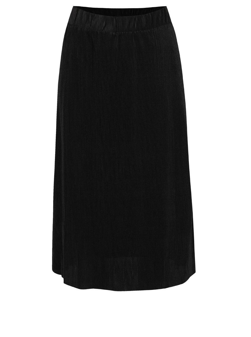 Černá plisovaná sukně Noisy May Jasper