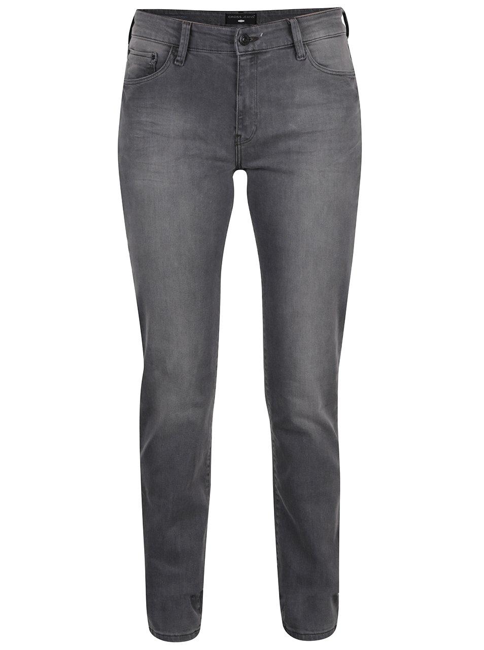 Šedé dámské slim džíny Cross Jeans Anya
