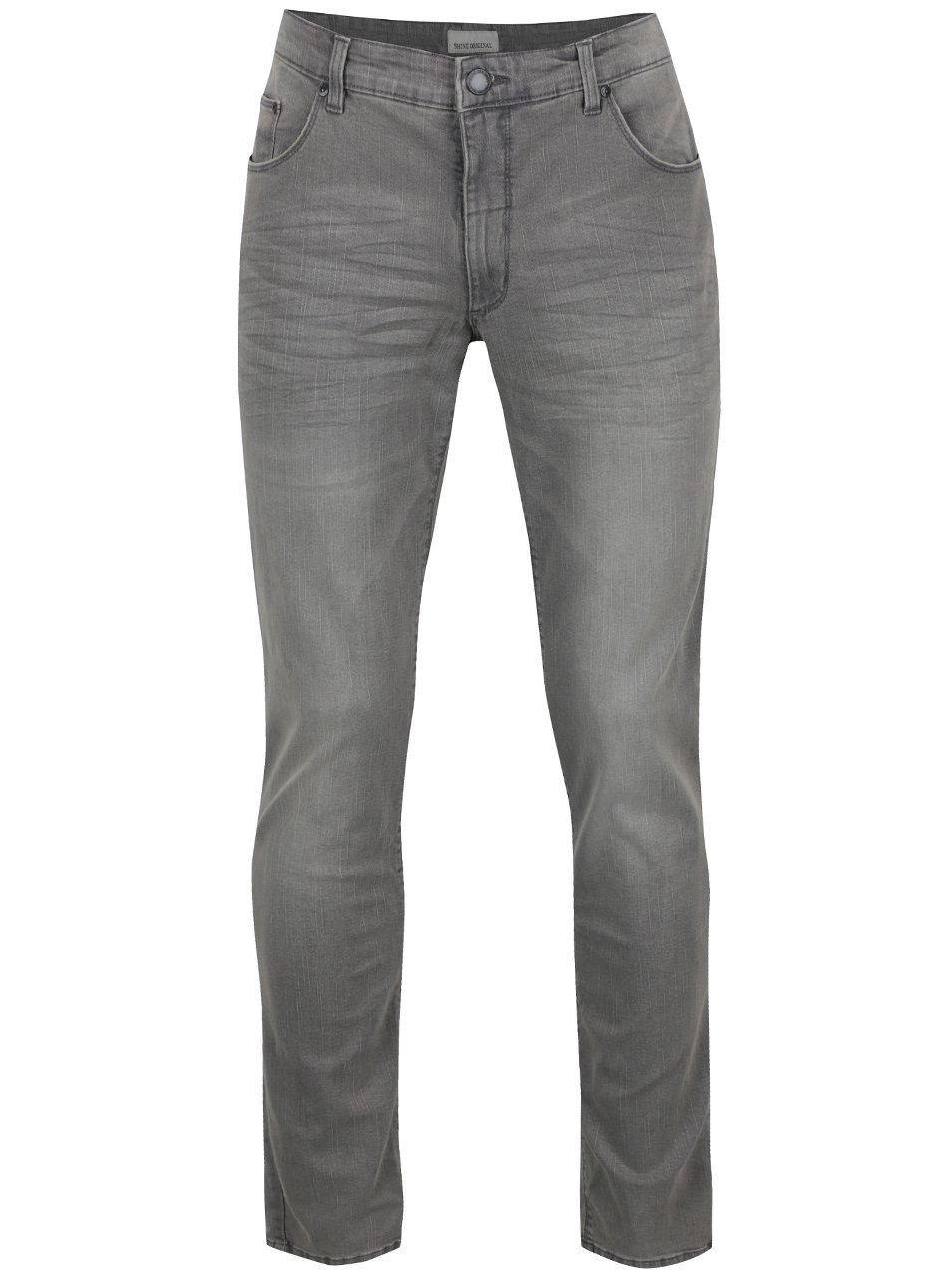 Šedé džíny s vyšisovaným efektem Shine Original
