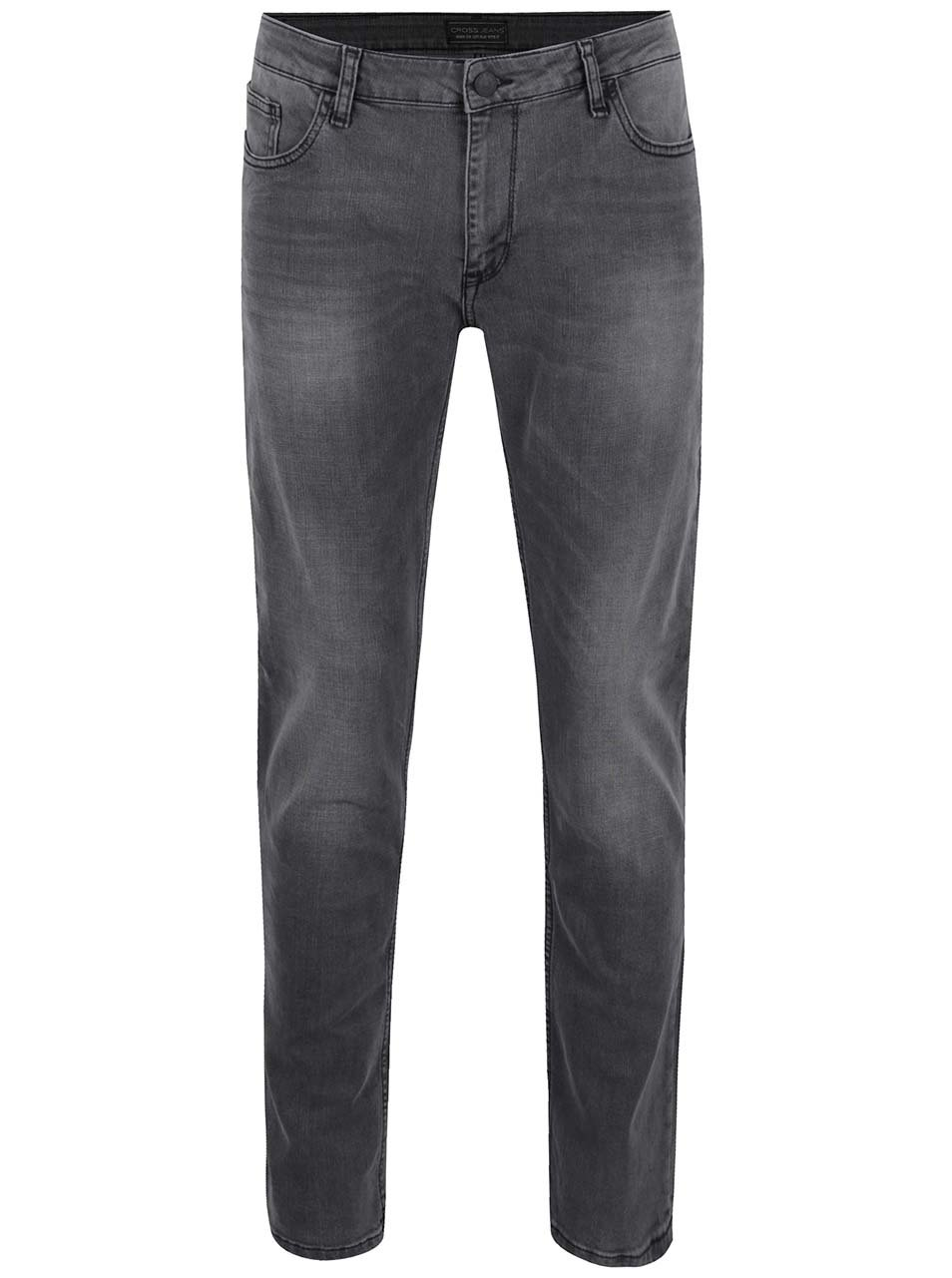 Tmavosivé pánske slim fit rifle Cross Jeans Johny
