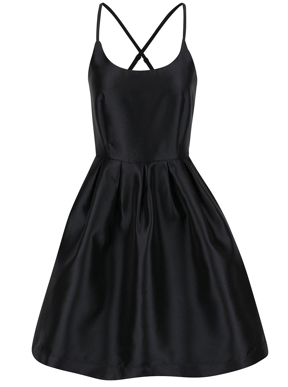 Černé šaty v lesklém provedení VERO MODA Natty