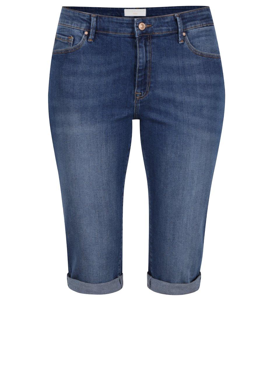 Modré dámské džínové kraťasy nad kolena Cross Jeans