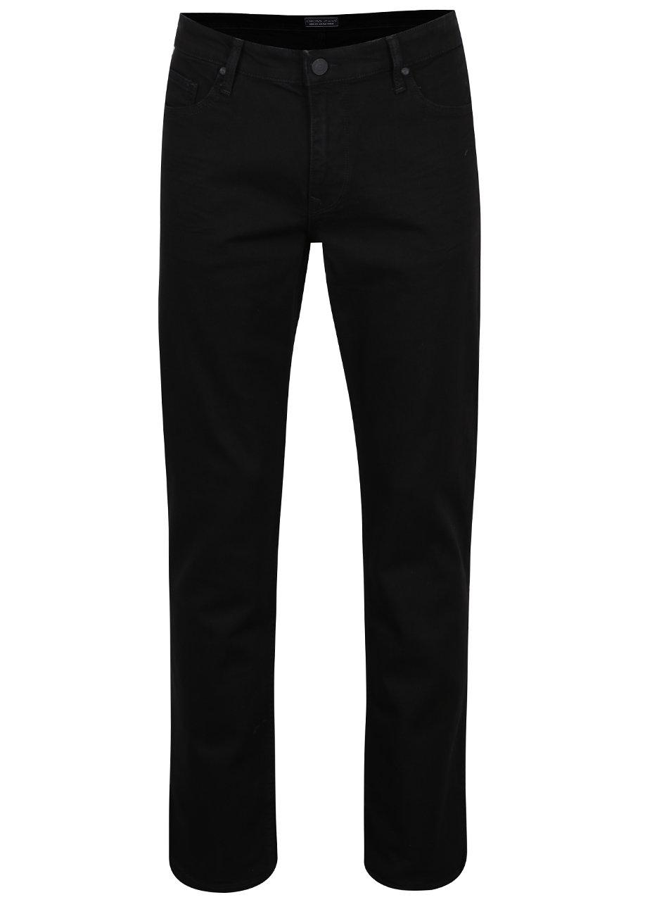 Černé pánské rovné džíny Cross Jeans Antonio