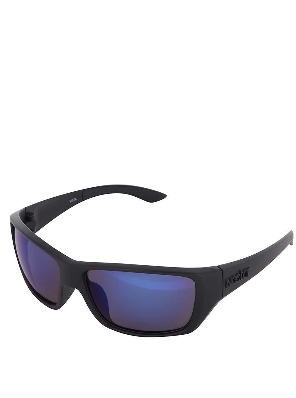 Černé pánské sluneční brýle s modrými skly Nectar Sporty