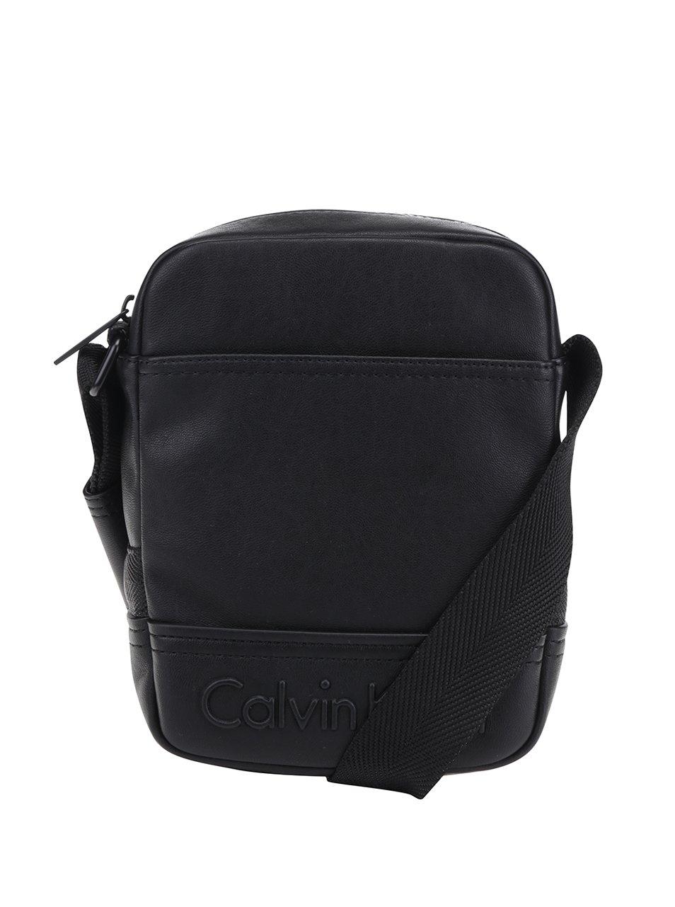 Černá pánská crossbody taška s logem Calvin Klein Jeans Bastian