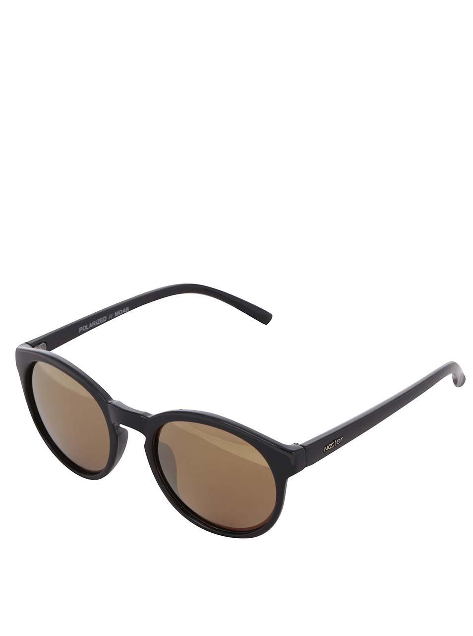 Černé dámské sluneční brýle s hnědými skly Nectar Moab