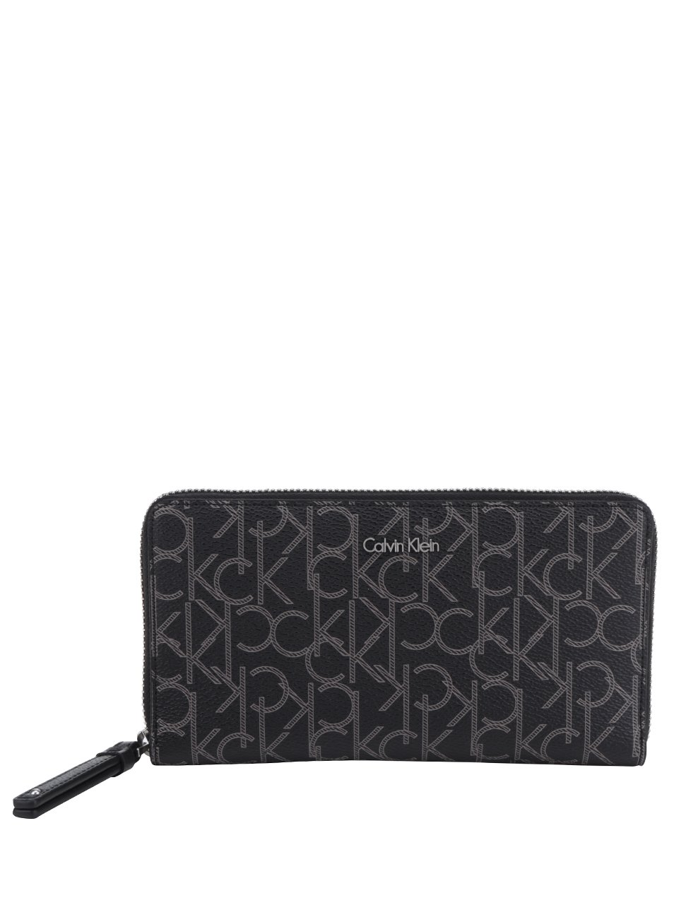 Černá vzorovaná dámská peněženka Calvin Klein Jeans Tina