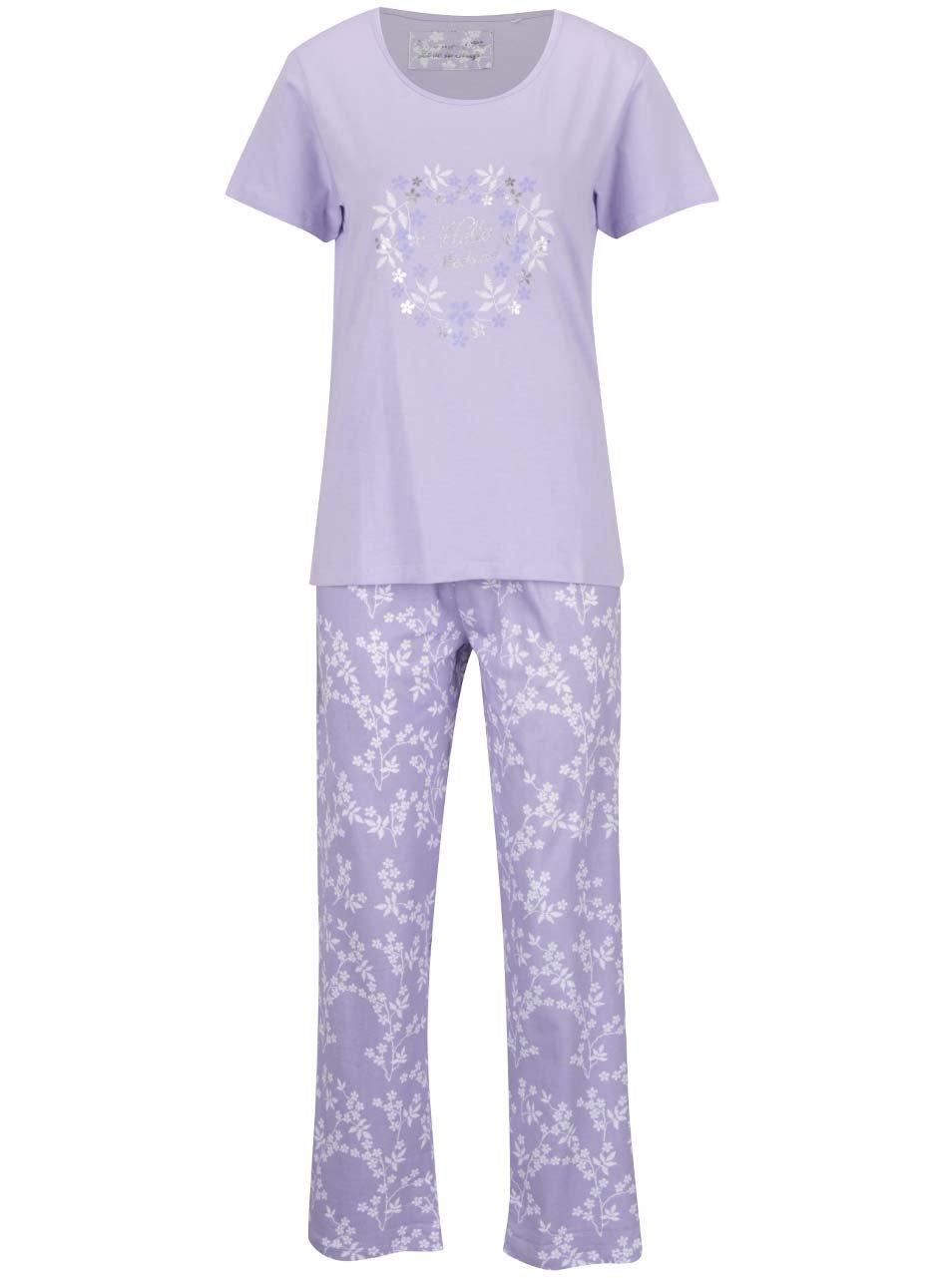 Světle fialové pyžamo s potiskem M&Co