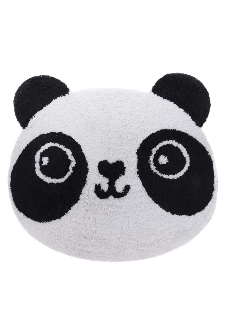 Černo-bílý koberec ve tvaru pandy Sass & Belle