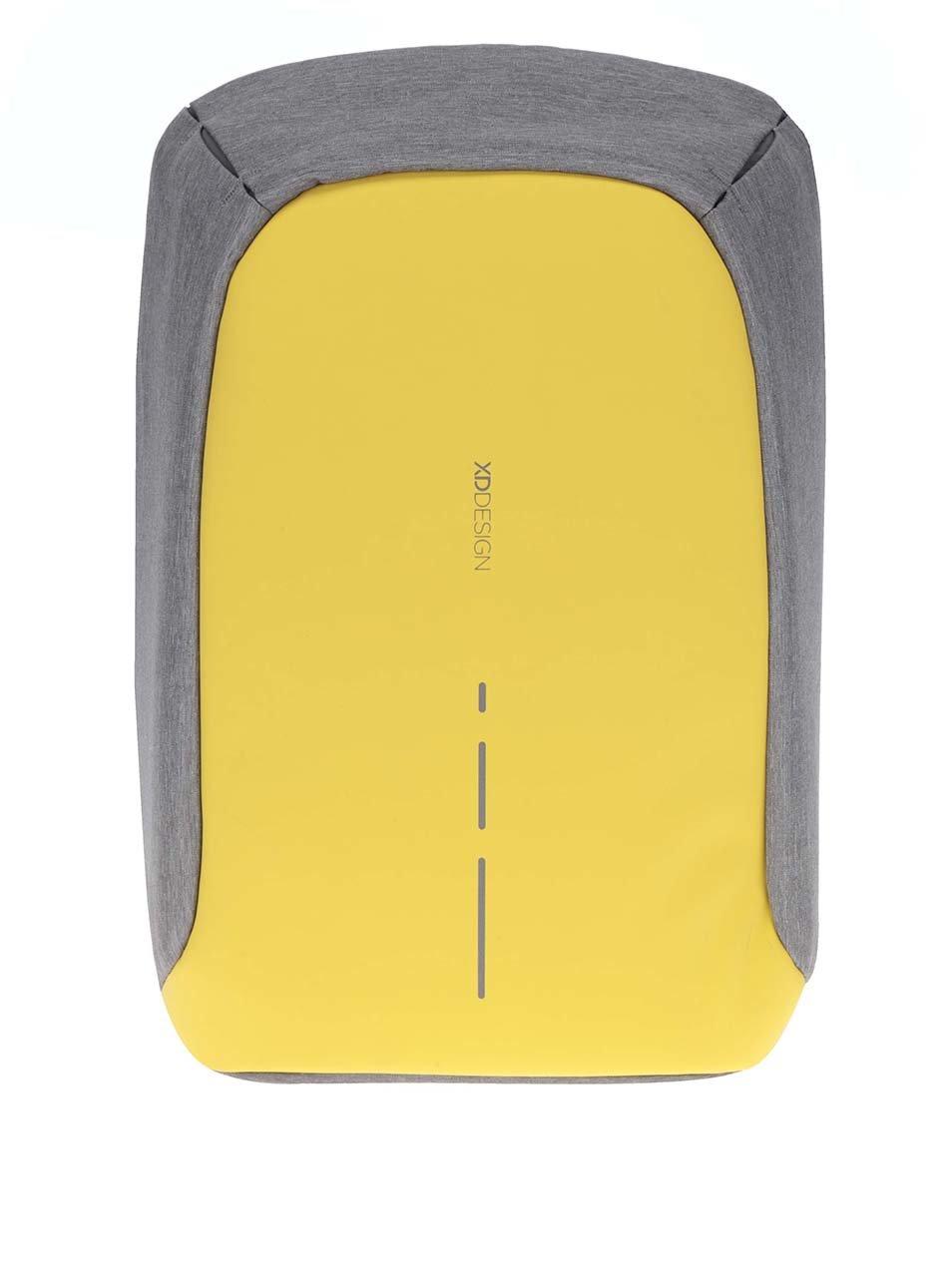 Šedo-žlutý nevykradnutelný unisex batoh XD Design Bobby